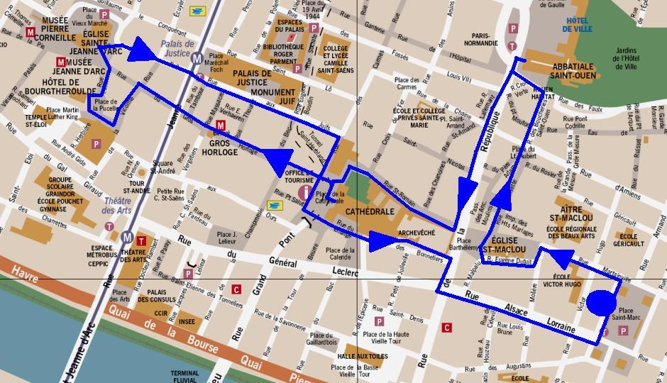 Routebeschrijving stadswandeling rouen - Saint maclou tapijt van gang ...